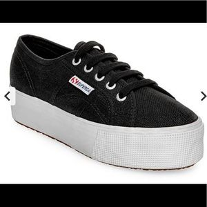 Superga Double Stack In Black Size 7/37.5 NWT